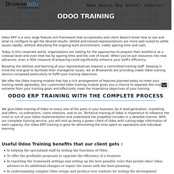 Get Odoo Certified with OpenERP Training
