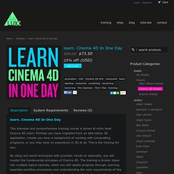 C4D Training for R16 - learn. Cinema 4D In One Day from helloluxx