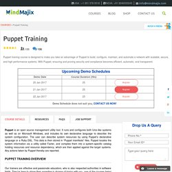 Live Puppet Training Classes by Puppet Experts