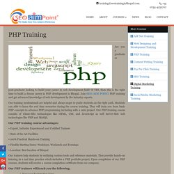 PHP Training Classes in Bhopal, PHP Institute Bhopal