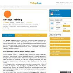 netapp training classes