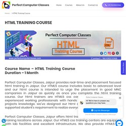 HTML Training Course in Jaipur