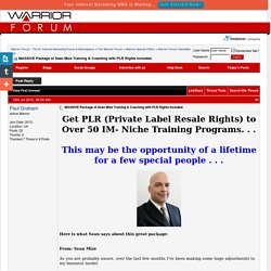 MASSIVE Package of Sean Mize Training & Coaching with PLR Rights Included.