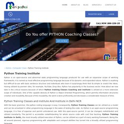 1800-1230-133 Python Training Classes, Python Coaching, Institute in Delhi NCR