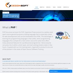 PHP/MySQL Training Institute Coimbatore