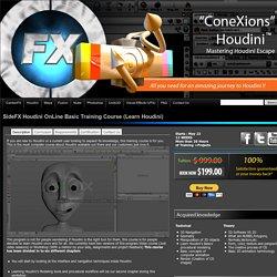 "SideFX Houdini OnLine Training Course ""ConeXions"" (Mastering Houdini Escape) « CardanFX"