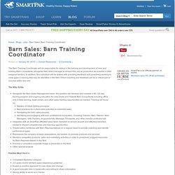 Barn Sales: Barn Training Coordinator