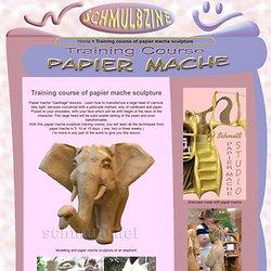 Papier mache sculpture