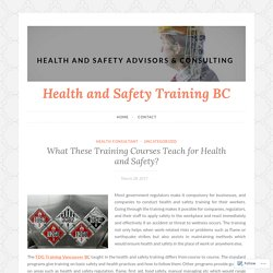 What The Benefits of TDG Training Courses for Health and Safety?