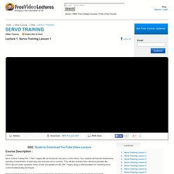 Servo Training Lesson 1 Video Lecture, Other