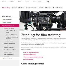 Funding for film training - Creative Industries - Creative Skillset