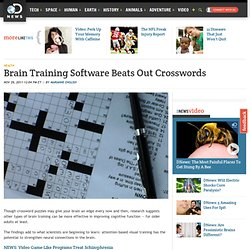 Brain Training Software Beats Out Crosswords