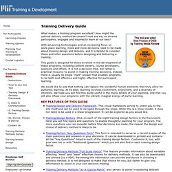 MIT Training Delivery Guide