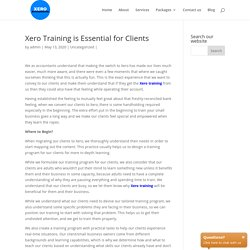 Xero Training is Essential for Clients Xero Accountants