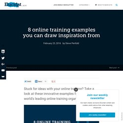 8 online training examples you can draw inspiration from