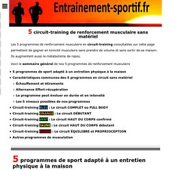Musculation en Circuit-Training - 12 exercices sans matériel