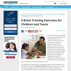 6 Brain Training Exercises for Children and Teens