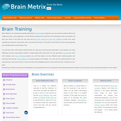 Brain Training | Brain Exercises | Brain Fitness Games | Brain Metrix