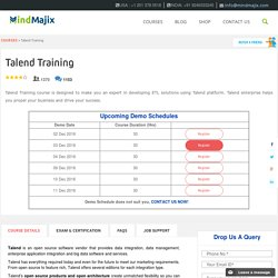 Live Talend Training by experts at Mindmajix