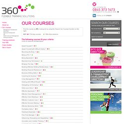 360 Training · Flexible Training Solutions · Courses