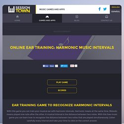 Online ear training: harmonic music intervals