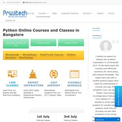 Python Training Courses Institute In Bangalore BTM & Pune
