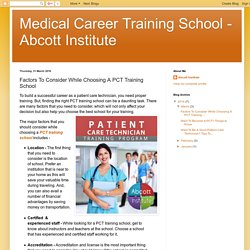Main Points to focus While Searching for a Patient Care Technician Training School