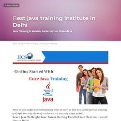 Best java training institute in Delhi