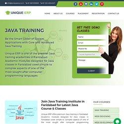 Java Classes, Java Course, Java Training Institute in Faridabad