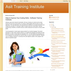 Asit Training Institute: Help to Improve Your Coding Skills - Software Training Institutes