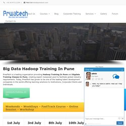 Big Data Hadoop Training Institute In Pune By Prwatech