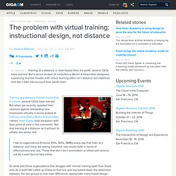 The problem with virtual training: instructional design, not distance — Online Collaboration