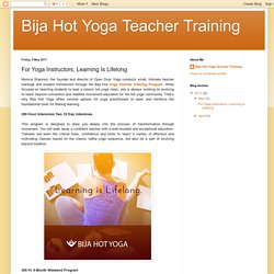For Yoga Instructors, Learning Is Lifelong
