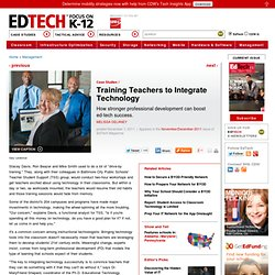 Training Teachers to Integrate Technology