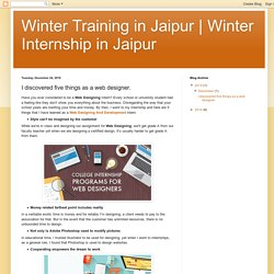 Winter Internship in Jaipur: I discovered five things as a web designer.