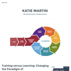 Training versus Learning: Changing the Paradigm of Educator Development