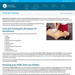 First Aid Training Cheshire, Liverpool & Wirral