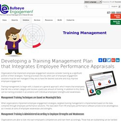Training Management Plan