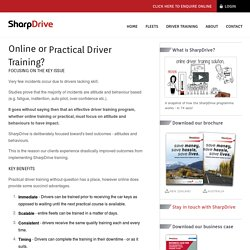Online Driver Training Modules