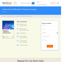 Microsoft Power BI Certification Training Course - With IgmGuru