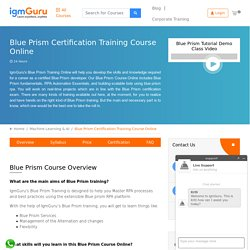 Blue Prism Certification Course