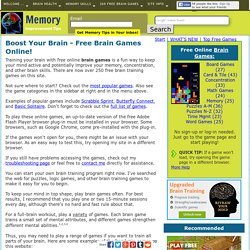 Free Brain Games Training Online - Improve Memory, Have Fun!