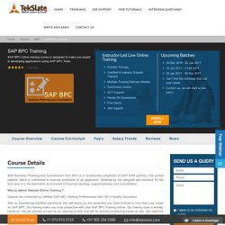 SAP BPC Training Online With Live Projects