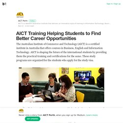 AICT Training Helping Students to Find Better Career Opportunities