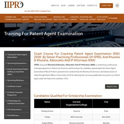 Patent Agent Exam Study Material Available At IIPRD