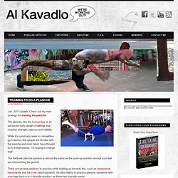 Al Kavadlo – We're Working Out! » Training to do a Planche
