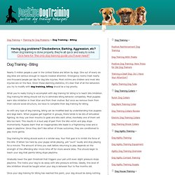 Dog Training - Biting - PositiveDogTraining.org