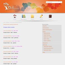 P.L.I. Multi-Training Center » Temps primitifs classés par familles NL