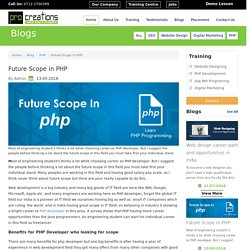 Future Scope in PHP Nagpur