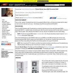 Product Review: Areca 8050 Thunderbolt RAID